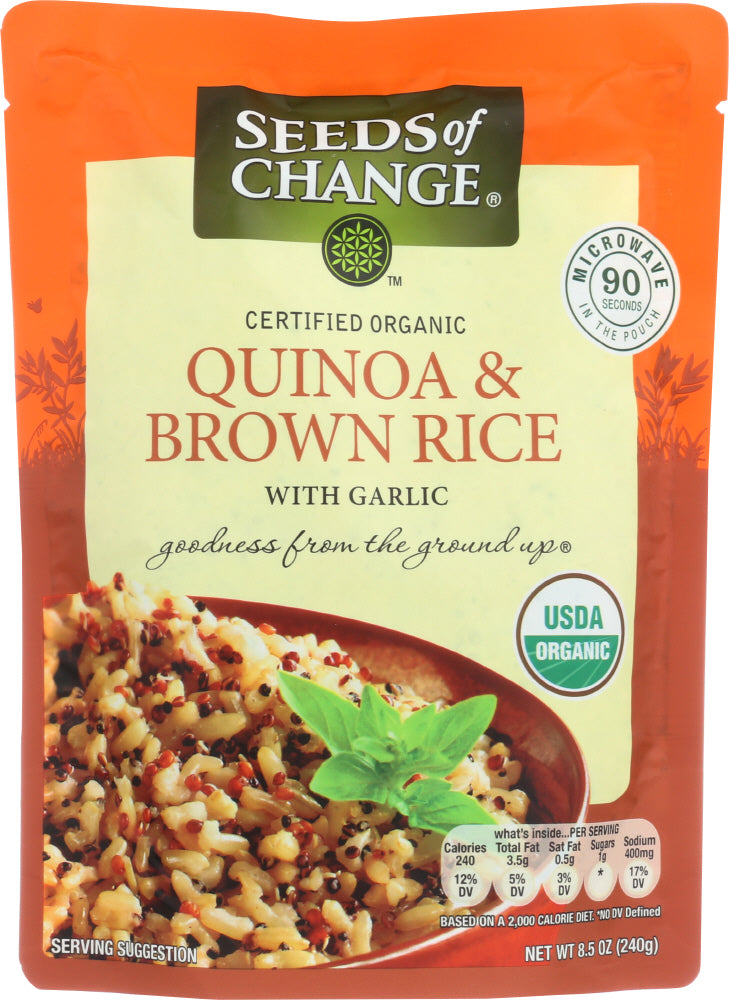Seeds Of Change: Organic Quinoa And Brown Rice With Garlic, 8.5 Oz