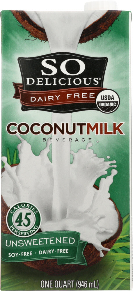 So Delicious: Organic Coconut Milk Dairy Free Unsweetened, 32 Oz