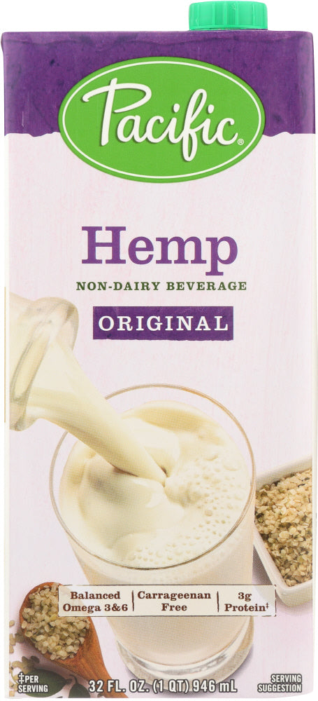 Pacific Foods: Hemp Milk Original, 32 Oz