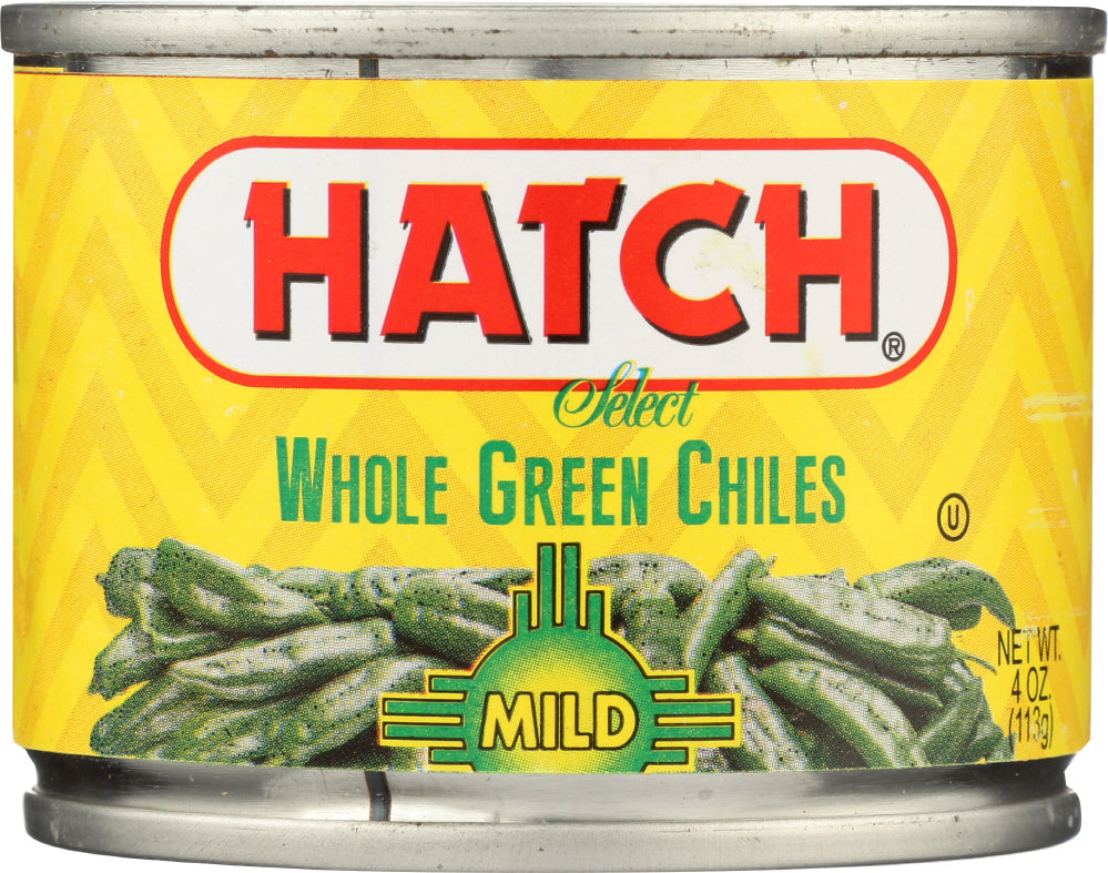 Hatch: Whole Green Chiles Mild, 4 Oz