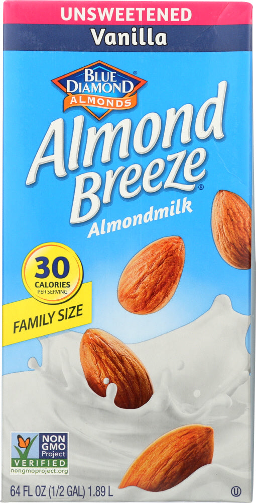 Blue Diamond: Almond Breeze Vanilla Unsweetened, 64 Oz