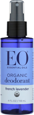 Eo Products: Organic Deodorant Spray Lavender All Day Fresh, 4 Oz