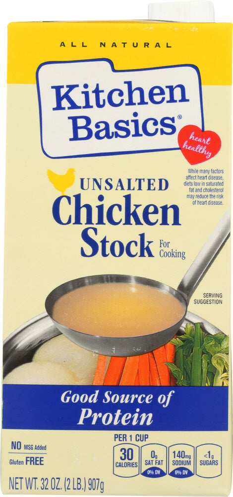 Kitchen Basics: Unsalted Chicken Cooking Stock, 32 Oz