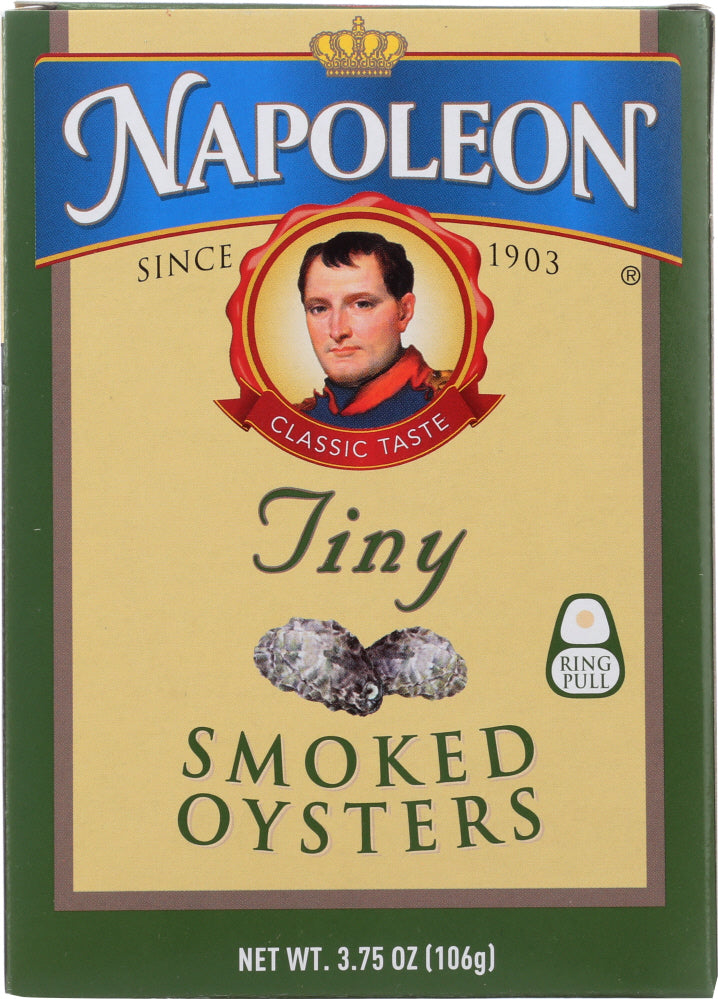 Napoleon: Tiny Smoked Oyster, 3.66 Oz