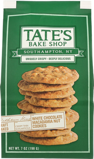 Tate's Bake Shop: White Chocolate Macadamia Nut Cookies, 7 Oz