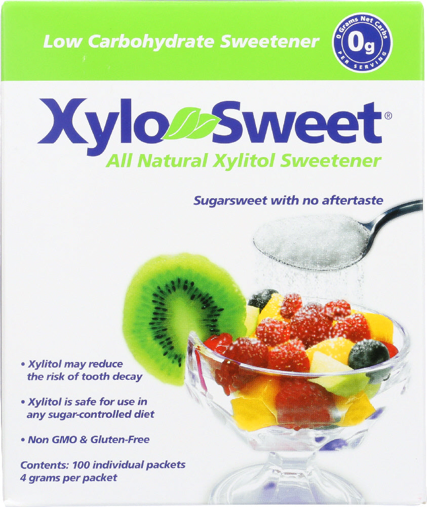 Xylosweet: All Natural Xylitol Sweetener 100 Packets, 4 Gm