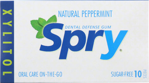 Spry: Chewing Gum Peppermint, 10 Pieces