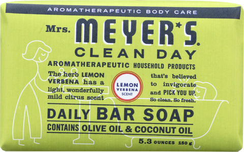 Mrs Meyer's Clean Day: Daily Bar Soap Lemon Verbena, 5.3 Oz
