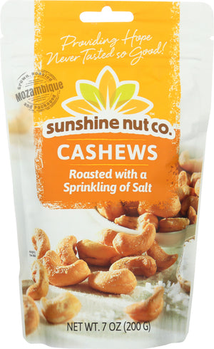 Sunshine Nut Company: Cashews Roasted Salted, 7 Oz