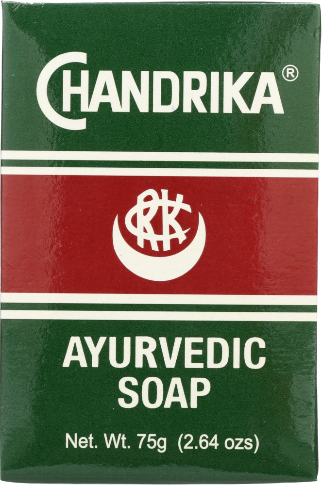 Chandrika: Ayurvedic Soap Bar Herbal And Vegetable Soap, 2.64 Oz