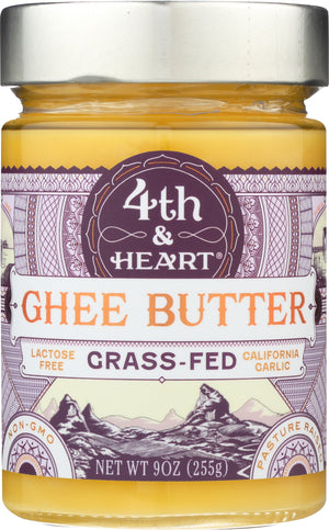 4th & Heart: Ghee Butter California Garlic, 9 Oz