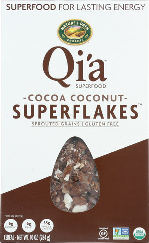 Qia: Cereal Coconut Superflakes Organic, 10 Oz
