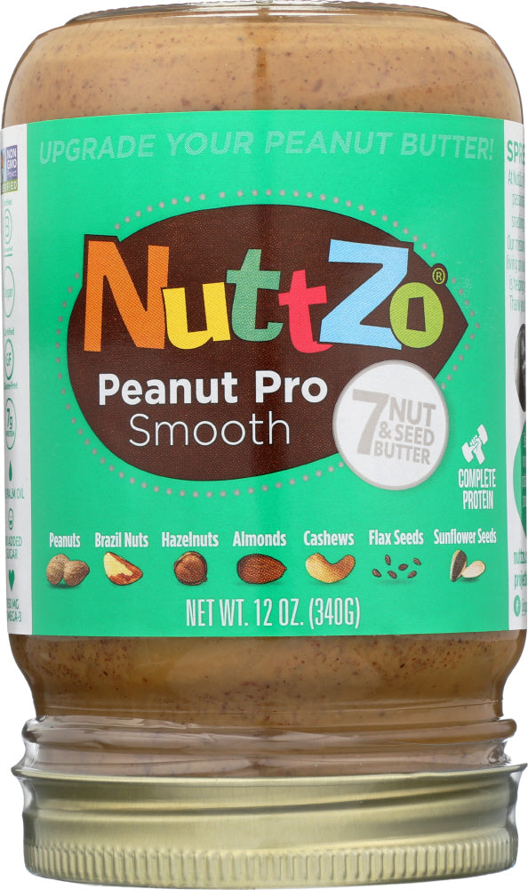 Nuttzo: Seed Peanut Butter Pro Smooth, 12 Oz