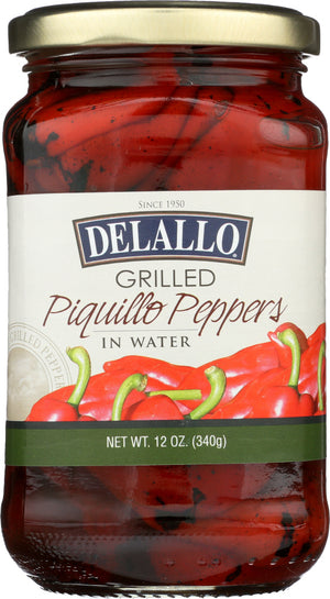 Delallo: Pepper Piquillo Grilled, 12 Oz