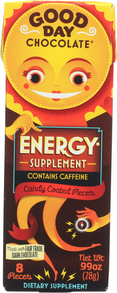 Good Day Chocolate: Energy Chocolate Supplement, 0.99 Oz