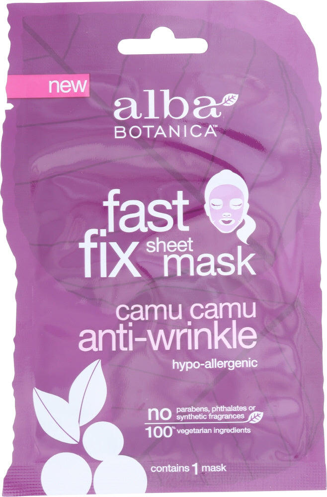 Alba Botanica: Anti-wrinkle Camu Camu Fast Fix Sheet Mask, 1 Ea