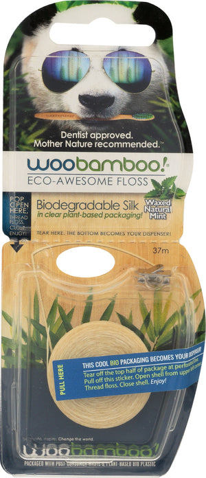 Woobamboo: Eco-awesome Floss Natural Mint 37meters, 1 Ea