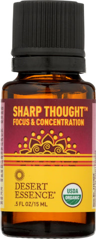 Desert Essence: Oil Essential Sharp Thought Organic, .5 Fl Oz
