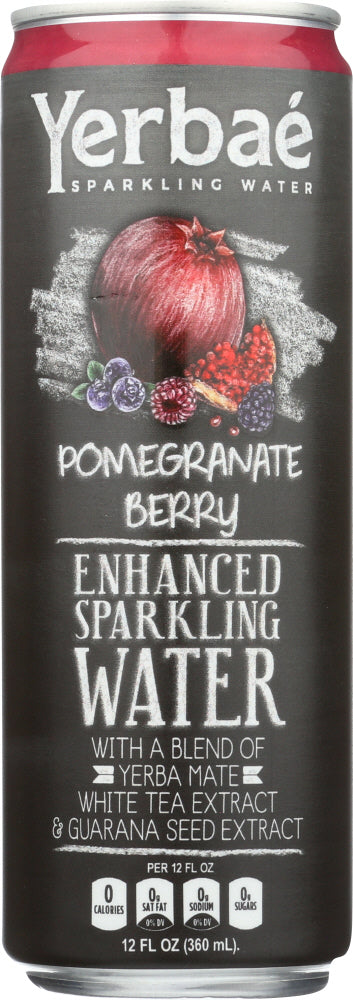 Yerbae: Enhanced Sparkling Water Pomegranate Berry, 12 Fl Oz