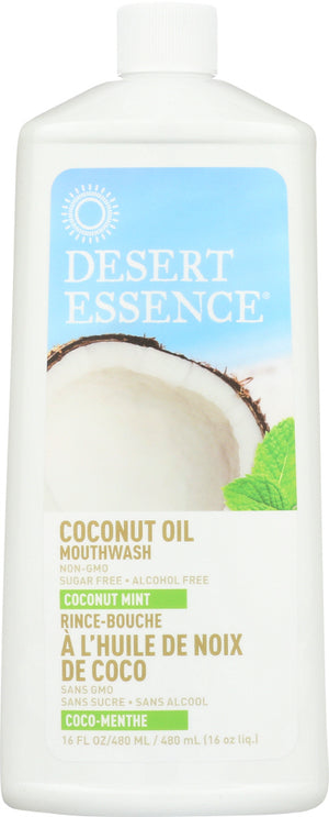 Desert Essence: Mouthwash Coconut Oil, 16 Fl Oz