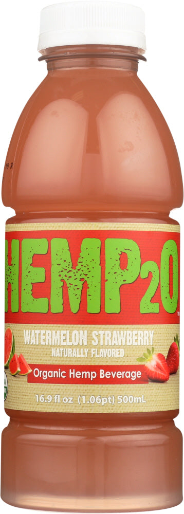 Hemp2o: Watermelon Strawberry Organic Water, 16.9 Oz