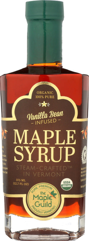 The Maple Guild: Organic Vanilla Bean Infused Vermont Syrup, 12.7 Oz