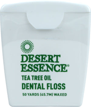 Desert Essence: Dental Floss Tea Tree Oil, 50 Yards
