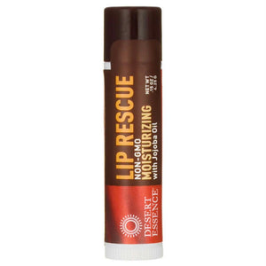Desert Essence: Lip Rescue Moisturizing With Jojoba Oil, 0.15 Oz