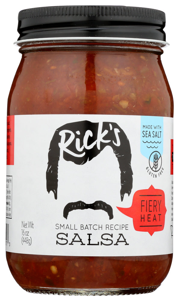 Ricks Salsa: Hot Salsa, 16 Oz