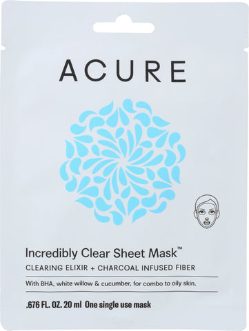 Acure: Mask Incredibly Clear Sheet, 1 Ea