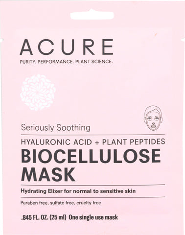 Acure: Seriously Soothing Biocellulose Facial Gel Mask, 1 Ea