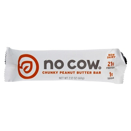 No Cow Bar: Protein Bar Chunky Peanut Butter, 2.12 Oz