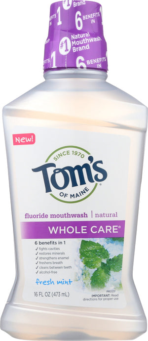 Toms Of Maine: Whole Care Mouthwash Mild Mint, 16 Fo