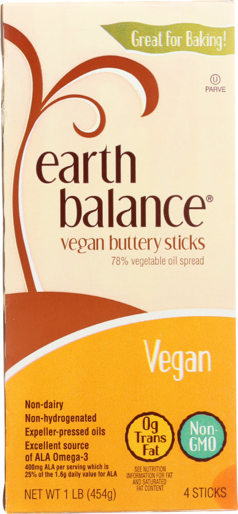 Earth Balance: Vegan Buttery Spread Sticks, 16 Oz