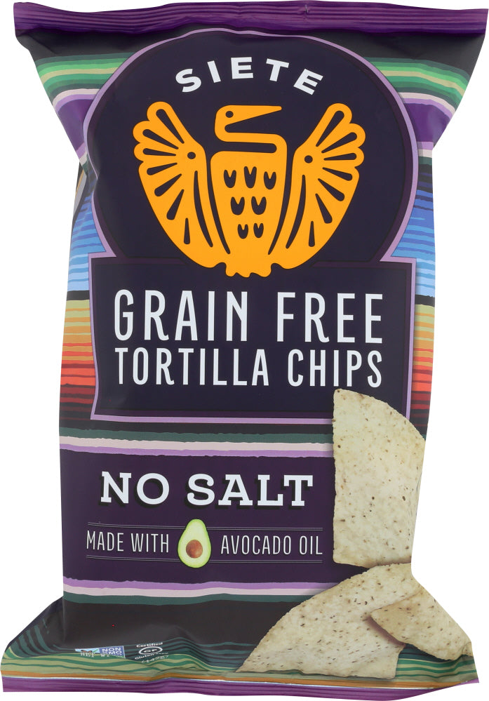 Siete: Chip Tortilla No Salt, 5 Oz