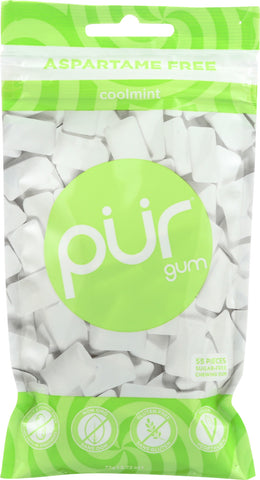 Pur: Sugar-free Cool Mint Chewing Gum, 2.72 Oz