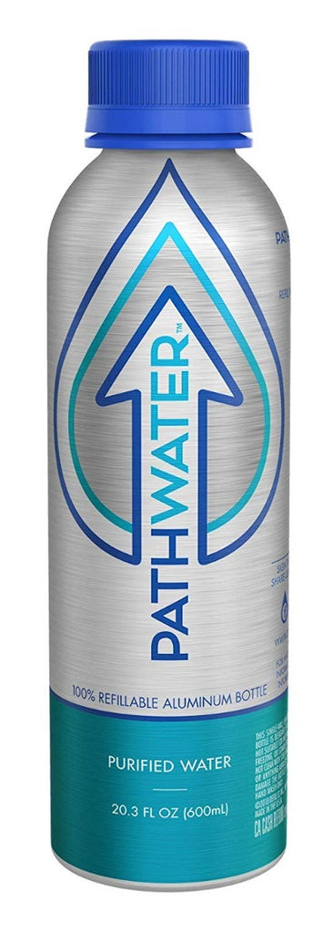 Pathwater: Water Purified Aluminum Bottle, 20.3 Oz