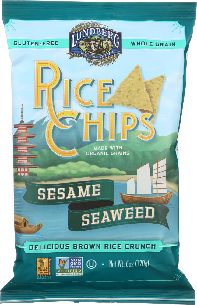 Lundberg: Rice Chips Sesame And Seaweed, 6 Oz