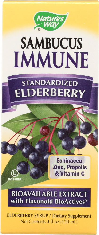 Nature's Way: Sambucus Immune System Syrup Standardized Elderberry, 4 Oz