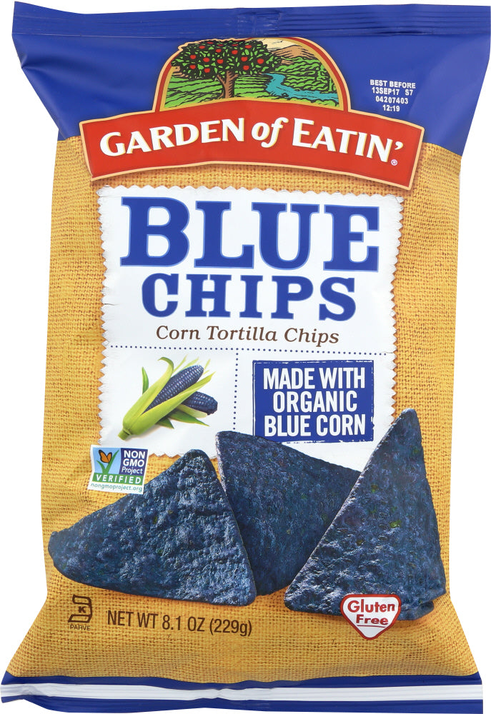 Garden Of Eatin: Corn Tortilla Chips Blue Chips, 8.1 Oz