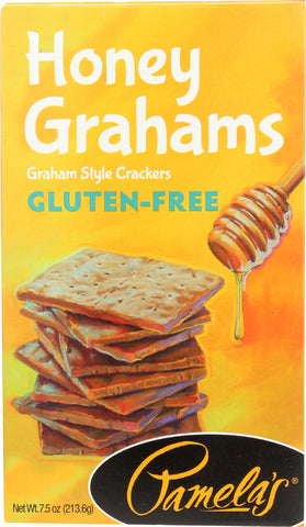 Pamela's Products: Gluten-free Graham Crackers Honey, 7.5 Oz