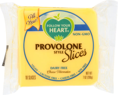 Follow Your Heart: Provolone Style Cheese Alternative Slices, 7 Oz