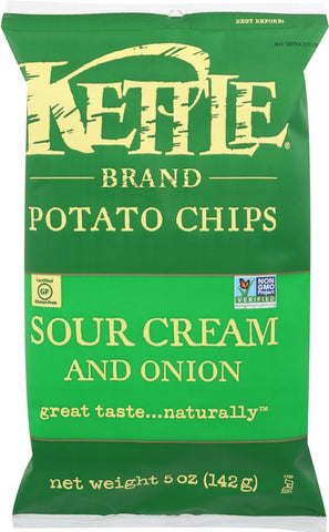 Kettle Brand: Potato Chips Sour Cream And Onion, 5 Oz