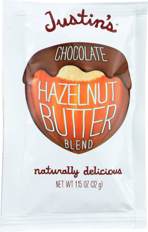 Justin's: Nut Butter Squeeze Pack Chocolate Hazelnut, 1.15 Oz
