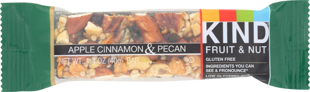 Kind: Fruit And Nut Bar Apple Cinnamon And Pecan, 1.4 Oz
