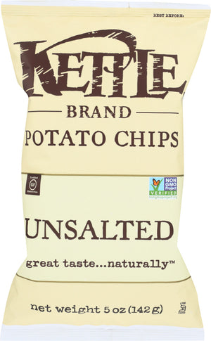 Kettle Brand: Potato Chips Unsalted, 5 Oz