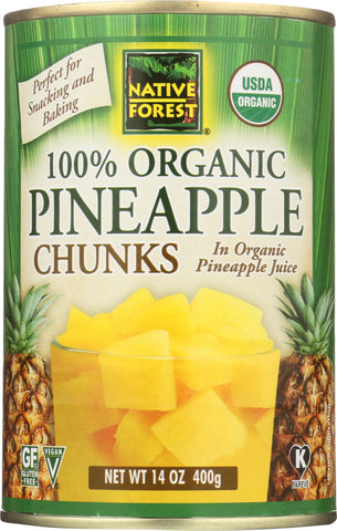 Native Forest: Organic Pineapple Chunks, 14 Oz