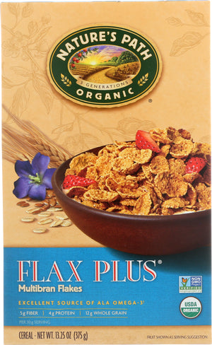 Nature's Path: Organic Flax Plus Multibran Flakes Cereal, 13.25 Oz