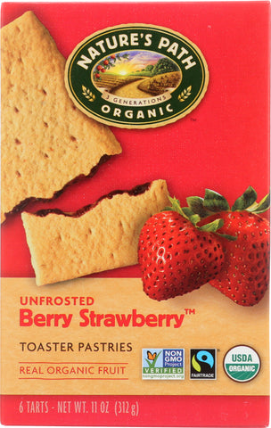 Nature's Path: Unfrosted Berry Strawberry Toaster Pastries, 11 Oz