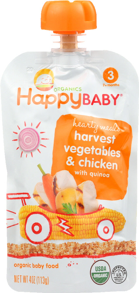 Happy Baby: Organic Baby Food Stage 3 Harvest Vegetables & Chicken With Quinoa, 4 Oz